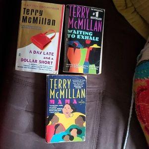 Terry McMillan paperbacks